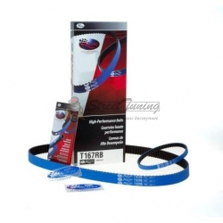 Ремень ГРМ GATES RACING BLUE T167RB 8595-02167 для MMC Evo 7-8-9 4G63Т